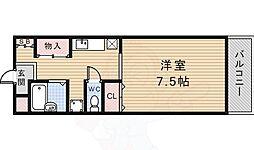 スマート花屋敷 3階1Kの間取り