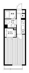 セシル高田馬場[2階]の間取り