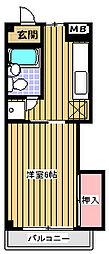 メゾングリーンライフ[1階]の間取り