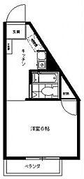 三田1092[107号室号室]の間取り