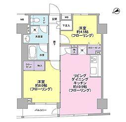 パートナーシップアパートメント 12階2LDKの間取り