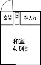 若松荘[2階]の間取り