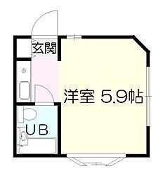ユースランドA棟[2階]の間取り