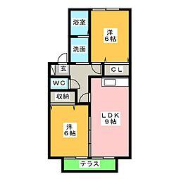 セジュールロイヤルB棟[1階]の間取り