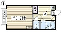 アテネコート田端[102号室]の間取り