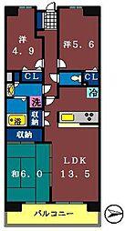 白井ロジュマン[627号室]の間取り