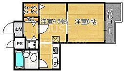 ライオンズマンション四条大宮[904号室号室]の間取り