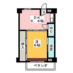 ビレッジハウス関 2号棟[2階]の間取り