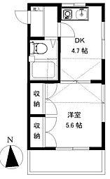 グリーンコート湘南II[2階]の間取り