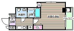 大阪府大阪市北区長柄西1の賃貸マンションの間取り