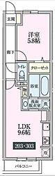 ルーチェ柴崎台[203号室号室]の間取り