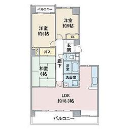 愛知県名古屋市守山区小幡2丁目の賃貸マンションの間取り