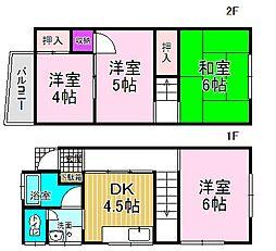 [一戸建] 東京都江戸川区北小岩3丁目 の賃貸【/】の間取り