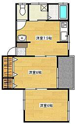 アドバンスコーポ[2階]の間取り