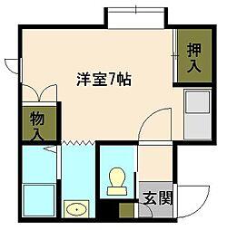 北海道小樽市入船5丁目の賃貸アパートの間取り