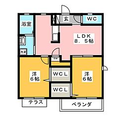 OKADA HOUSE[2階]の間取り