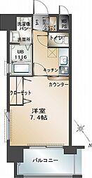 エンクレスト福岡[4階]の間取り