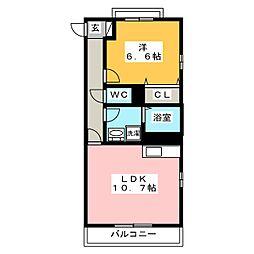 グリーンヒルズWEST I[4階]の間取り