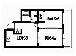 洛樹苑[2階]の間取り