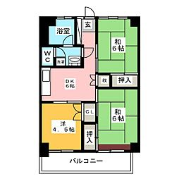 西長住ビル[4階]の間取り
