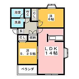 第2MHハウスE[2階]の間取り