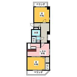 レインボー千代田橋[7階]の間取り