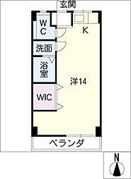 コーポ大文[2階]の間取り