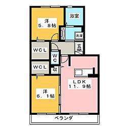 仮)D−room三ヶ名[3階]の間取り