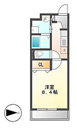 セントラルハイツ名古屋[4階]の間取り