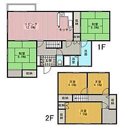 [一戸建] 北海道江別市大麻栄町 の賃貸【/】の間取り