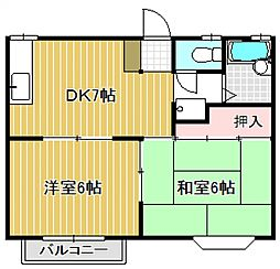 シャトルパート6 A棟[2階]の間取り