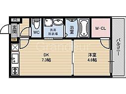 フジパレス新喜多II番館[1階]の間取り