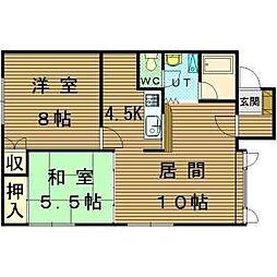 北海道札幌市北区北二十八条西4丁目の賃貸アパートの間取り