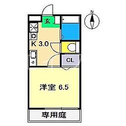 Reiwa1 1階1Kの間取り