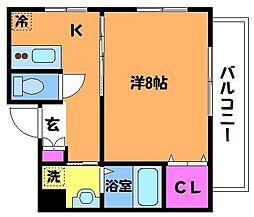 サンリビオン[2階]の間取り
