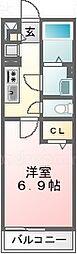千葉県浦安市北栄4丁目の賃貸マンションの間取り