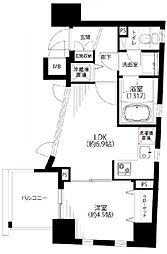 レックス赤坂レジデンス[10階]の間取り
