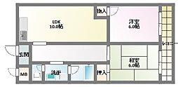 グランディア ミ・アモーレ鈴蘭台[6階]の間取り