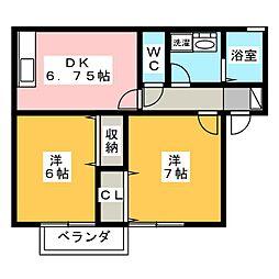 セジュール祇園殿[2階]の間取り