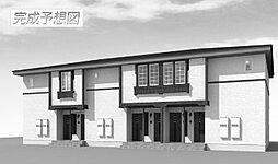 岡山県岡山市北区辛川市場の賃貸アパートの外観