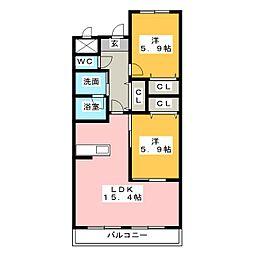 セントフィールド[2階]の間取り