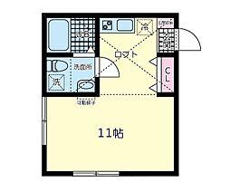 メープルヒルズ弥生台 2階ワンルームの間取り