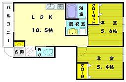 レグルス[1階]の間取り