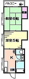 ベルゾーネ益浦[2階]の間取り
