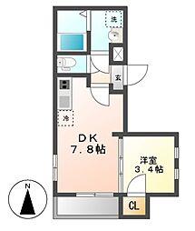 仮)MOVE六番町EAST[3階]の間取り