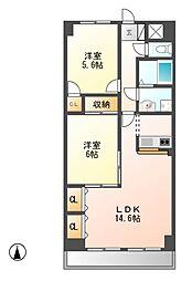 NK六番[3階]の間取り