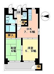 イトーピア紅葉舎金山マンション[2階]の間取り