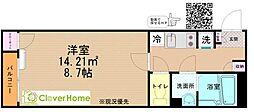 JR横浜線 町田駅 バス13分 ひなた村下車 徒歩3分の賃貸アパート 1階1Kの間取り