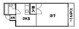京都府京都市東山区八軒町の賃貸マンションの間取り