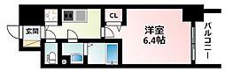 Osaka Metro御堂筋線 東三国駅 徒歩9分の賃貸マンション 2階1Kの間取り